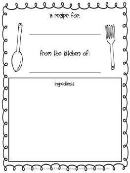 thanksgiving recipe book a fun writing activity by amy journell johnston. Black Bedroom Furniture Sets. Home Design Ideas