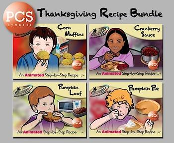Thanksgiving Recipe Bundle - Animated Step-by-Step Recipes PCS Symbols