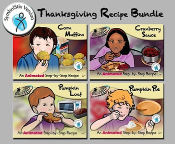 Thanksgiving Recipe Bundle - Animated Step-by-Step Recipes SymbolStix