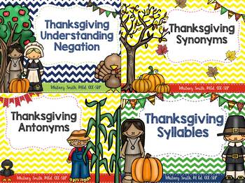 Thanksgiving Language Bundle for Autism & Speech Therapy