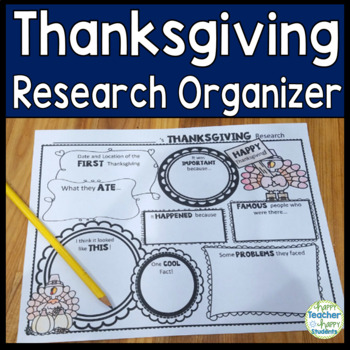Thanksgiving Research Activity: Thanksgiving Graphic Organizer