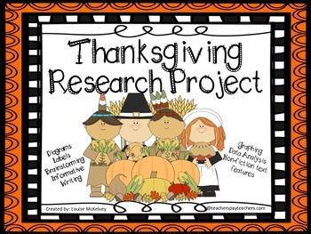 Thanksgiving Research Project and More 22 Pages