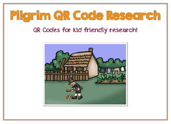 Thanksgiving Research QR Codes - Pilgrims & Wampanoag Indians