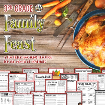 Thanksgiving Activities Mega Pack 3rd Grade