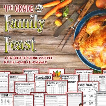 Thanksgiving Activities Mega Pack 4th Grade