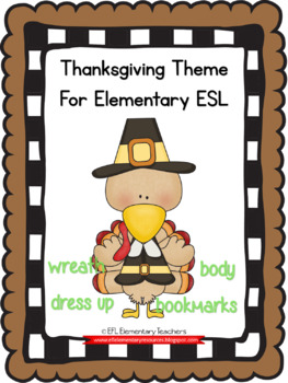 Thanksgiving  Resources for Elementary English Language Learners