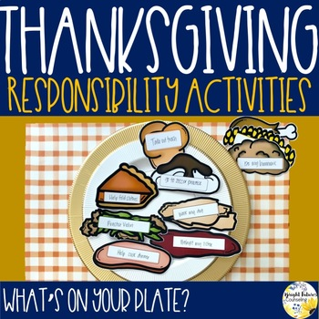 Thanksgiving Responsibility Activities - What's On Your Plate?