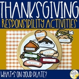 Thanksgiving Responsibility Activity What's On Your Plate?