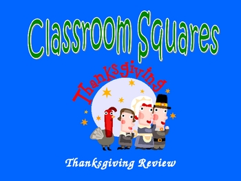 Thanksgiving Review Game 2nd Grade