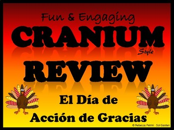 Thanksgiving Review Game - Cranium Style