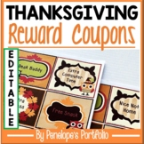 Thanksgiving Feast Party Reward Coupons for the Classroom
