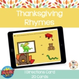 Thanksgiving Rhymes Boom Cards