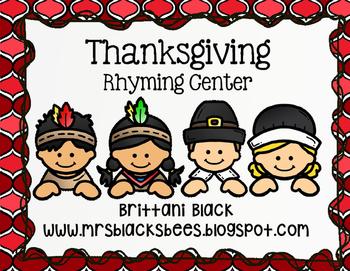 Thanksgiving Rhyming Center