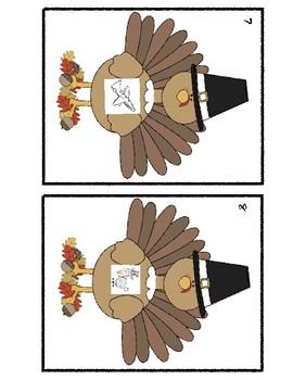Turkey/Thanksgiving Rhyming Center