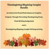 Thanksgiving Rhyming Couplet Bundle