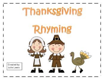 Thanksgiving Rhyming - FREEBIE
