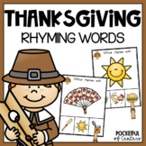 Thanksgiving Rhyming Clip Cards