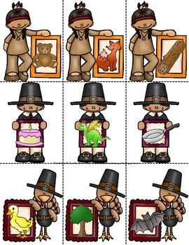 Thanksgiving Rhyming Game! Great Center or Party Activity!  CC Aligned! ~PreK-1