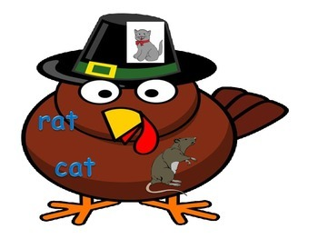 Thanksgiving Rhyming Hands on COMMON CORE center puzzles