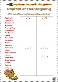 Thanksgiving Rhythm Activity