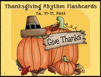 """Thanksgiving"" Rhythm Flashcards Grades 1-3"