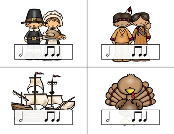 Thanksgiving Rhythm Relays - A Game to Practice Ta-a
