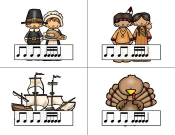 Thanksgiving Rhythm Relays - A Game to Practice Tika-tika