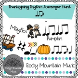Thanksgiving Rhythm Scavenger Hunt