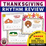 Thanksgiving Music Activities: 35 Thanksgiving Rhythm Worksheets