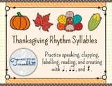 Thanksgiving Rhythm Syllables