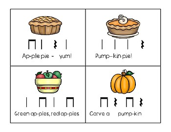 Thanksgiving Rhythmic Composition - Ta, Ti-ti, Ta Rest