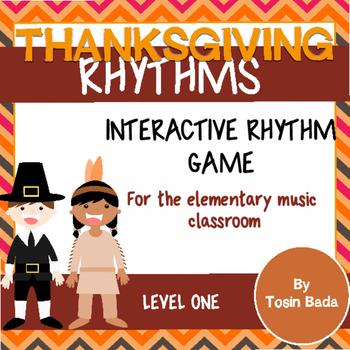 Thanksgiving Rhythms- An Interactive Rhythm Game {Quarter