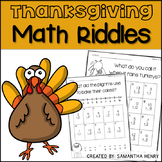 Thanksgiving (Differentiated) Math Riddles