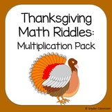 Thanksgiving Multiplication Math Riddles