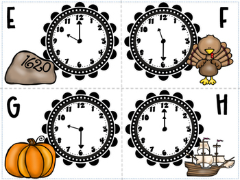 Thanksgiving Roam the Room-Math Review