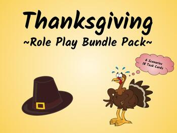 Thanksgiving Role Play Bundle Pack (ESL/ELA Speaking Activity!)