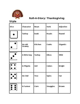 Thanksgiving Roll A Story