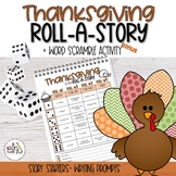 Thanksgiving Roll-A-Story & Word Scramble