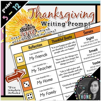 Thanksgiving Writing Prompt Personal Reflection