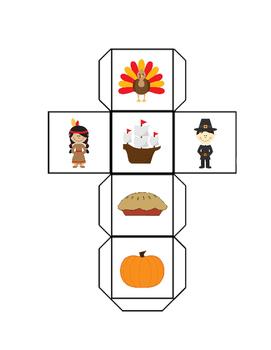 Thanksgiving Roll Tally Graph Math Activity Set K-1