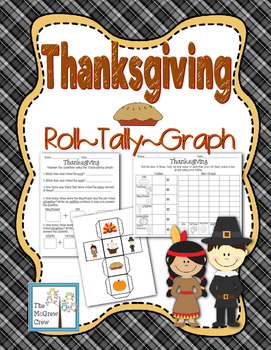 Thanksgiving Roll Tally Graph Math Activity Set K-1