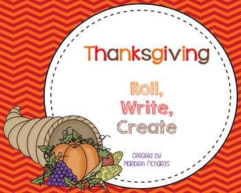 Thanksgiving: Roll, Write, Create