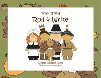 Thanksgiving Activities - Roll & Write Printables & Activity Mats