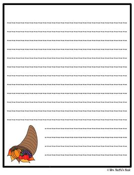 Thanksgiving Roll a Story - Prompts, Graphic Organizers, Word Lists and Rubric
