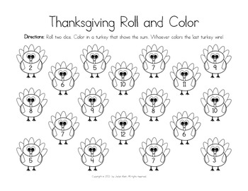 Thanksgiving Roll and Color