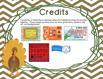 Thanksgiving Rotation Task Cards - 3rd Grade