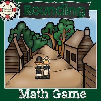 Thanksgiving Rounding Game Task Cards