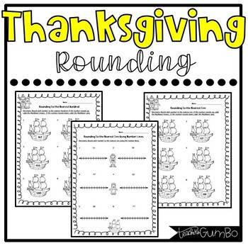 Thanksgiving Rounding Worksheets and Activities