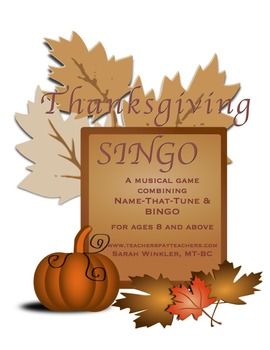Thanksgiving SINGO w/Customizable Template