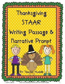 Thanksgiving STAAR Writing R/E Passage and Narrative Prompt